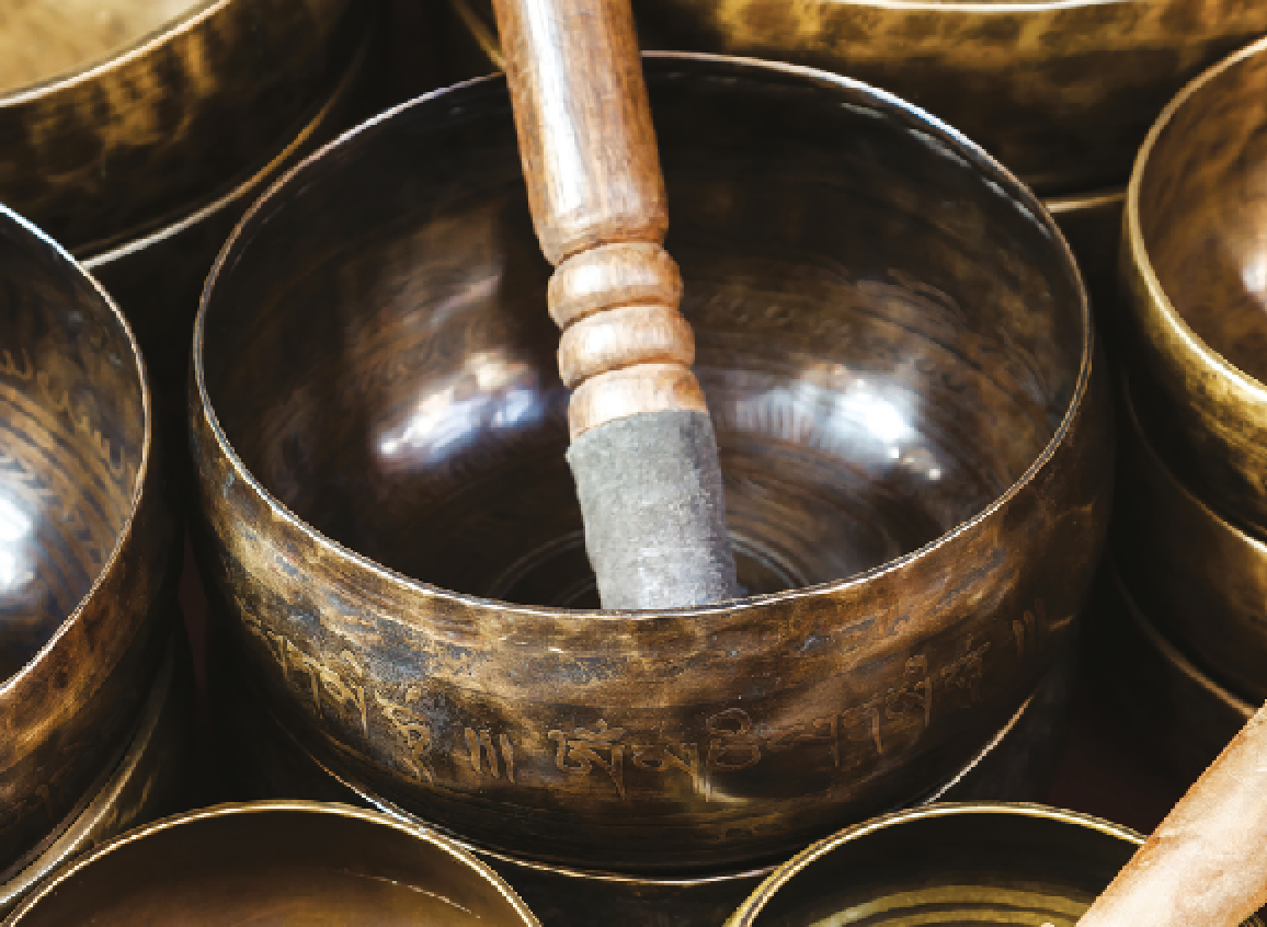 If your back hurts, a singing bowl could help