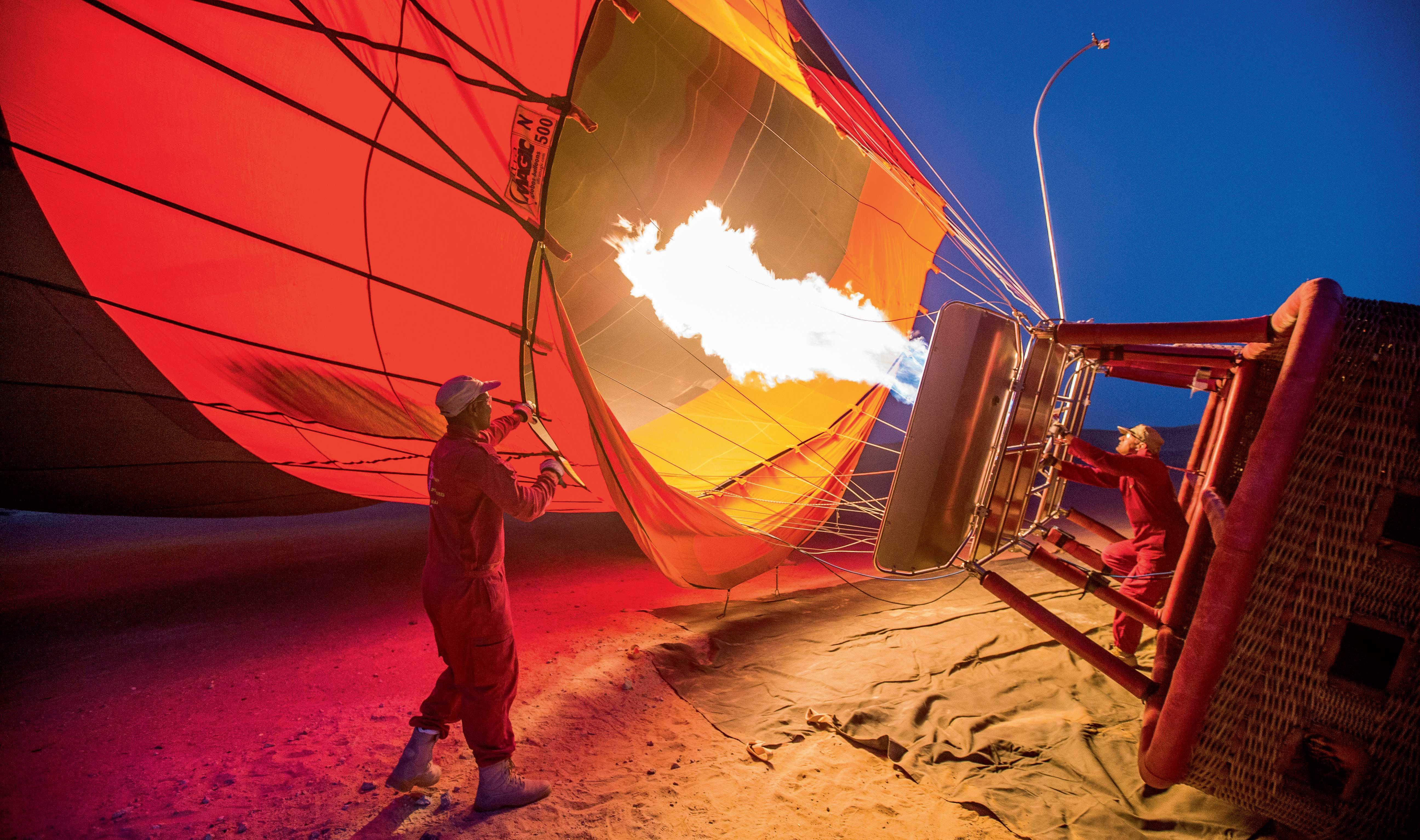 Weird tales on a hot air balloon with a 'macho nutcase' pilot