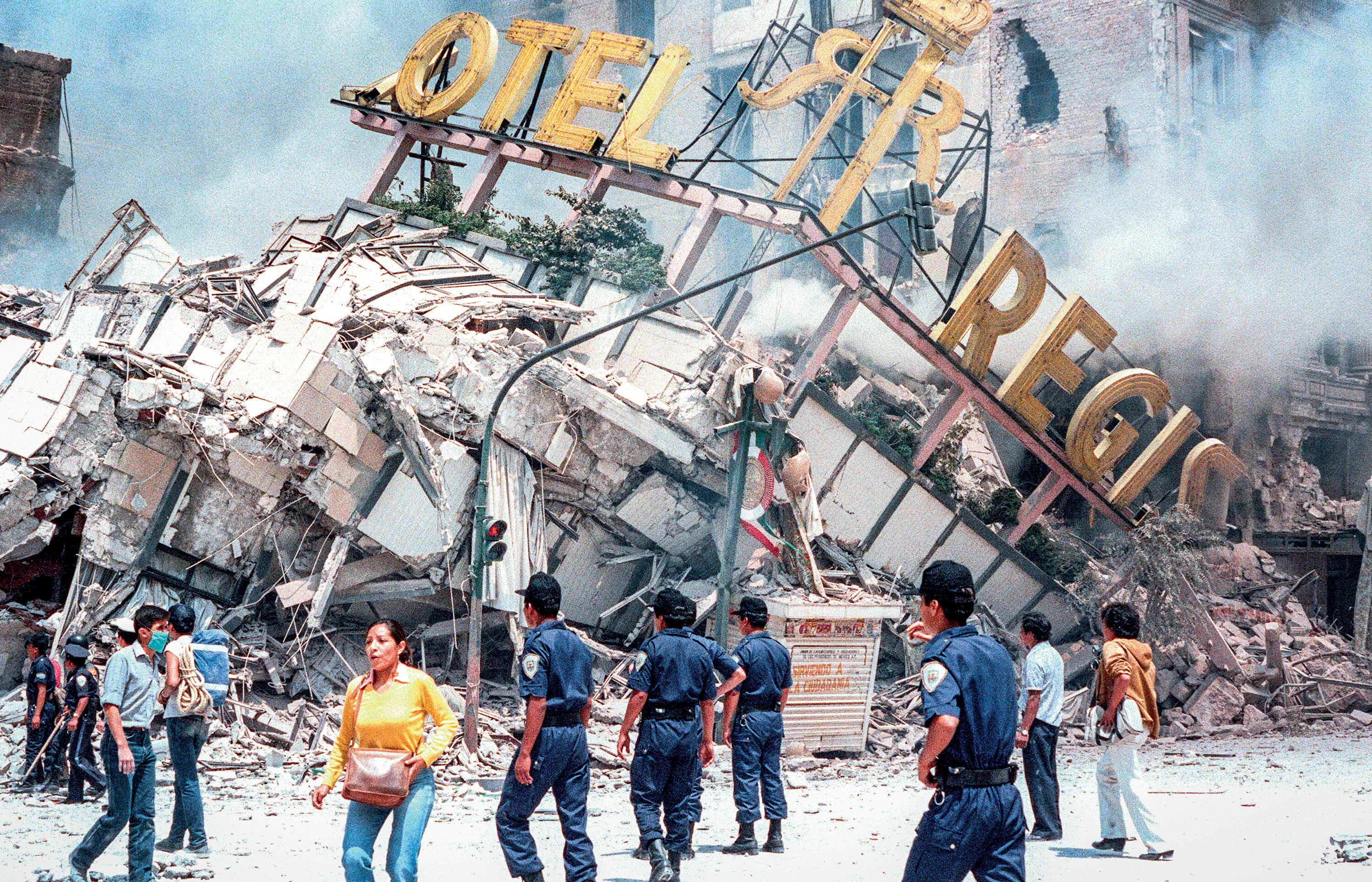 ... DUST TO DUST: The human cost of the 1985 earthquake is still a hotly debated topic in Mexico, with estimates ranging from 10,000 to as many as 45,000 people and 250,000 having lost their homes