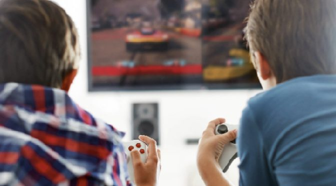 Be watchful of kids playing those violent video games