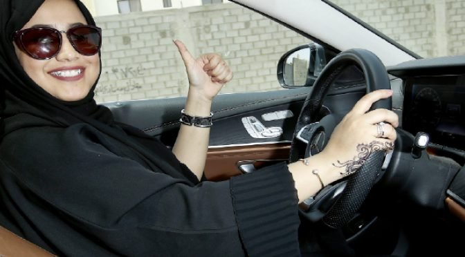 Ladies in Saudi have won their rights to those car keys, so yay!