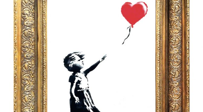 Banksy did it for charity. How's that for creative destruction?
