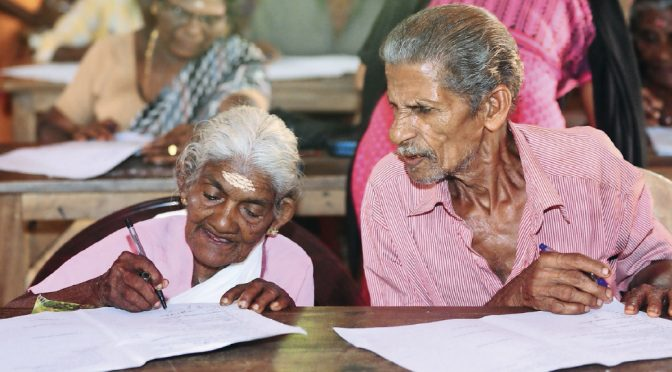 Never too old to study. Look at her ­breaking records at 97