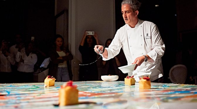 French chef in Bahrain plates like a famous American artist
